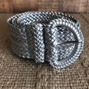Silver Woven Belt size XL